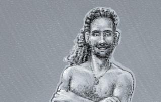 """Gallery sketch: """"Rastaman"""""""