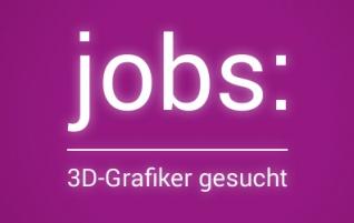 Jobs: 3D-Artist (m/w)