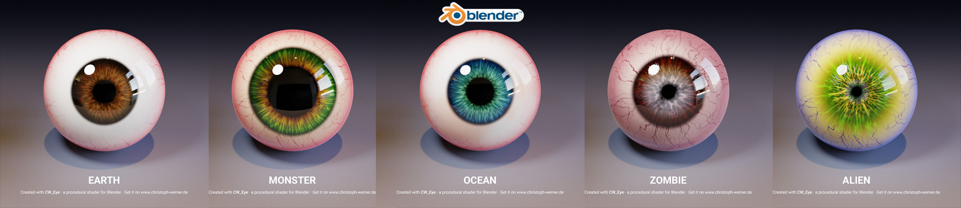 CW Eye – Procedural Eye Material for Blender