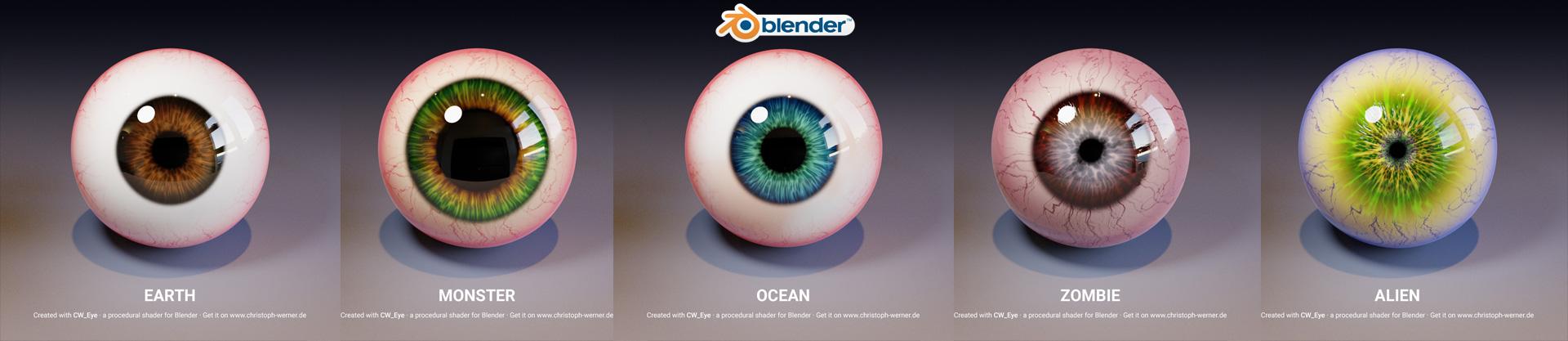 CW Eye – Procedural Eye Material for Blender