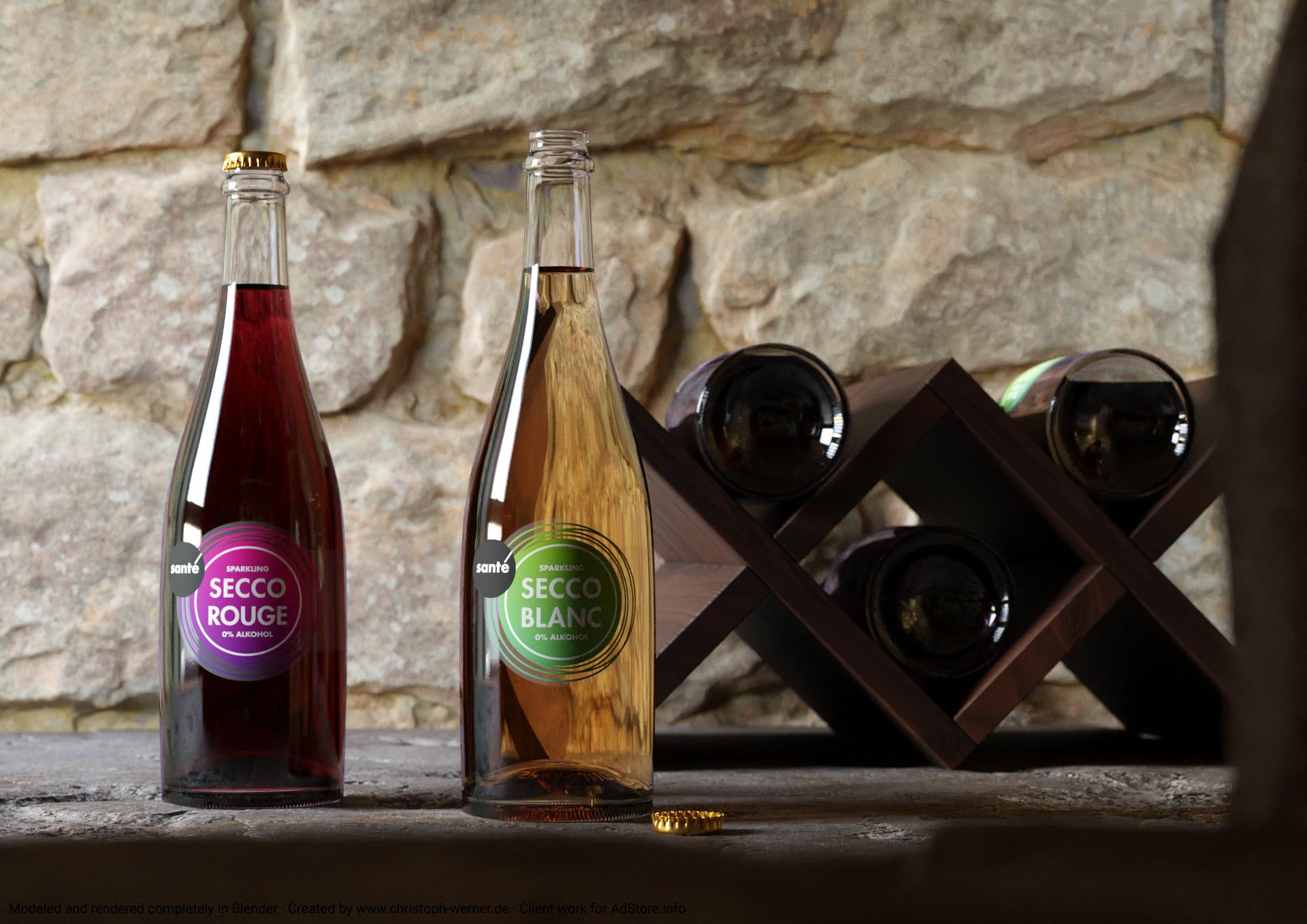 Weinflaschen für ADstore / filmproduktion rhein-main